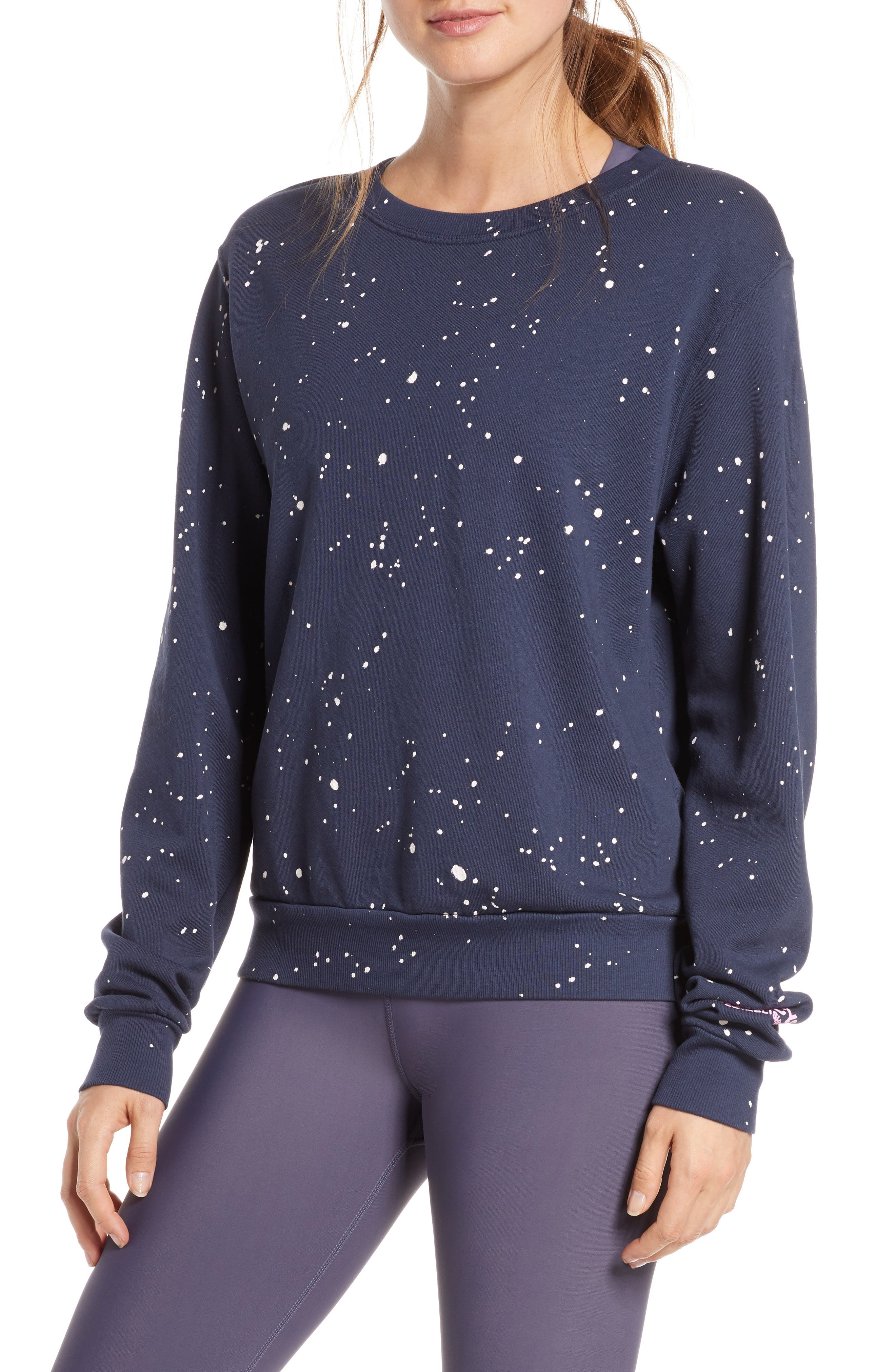 Soul By Soulcycle Splatter Paint Sweatshirt, Blue