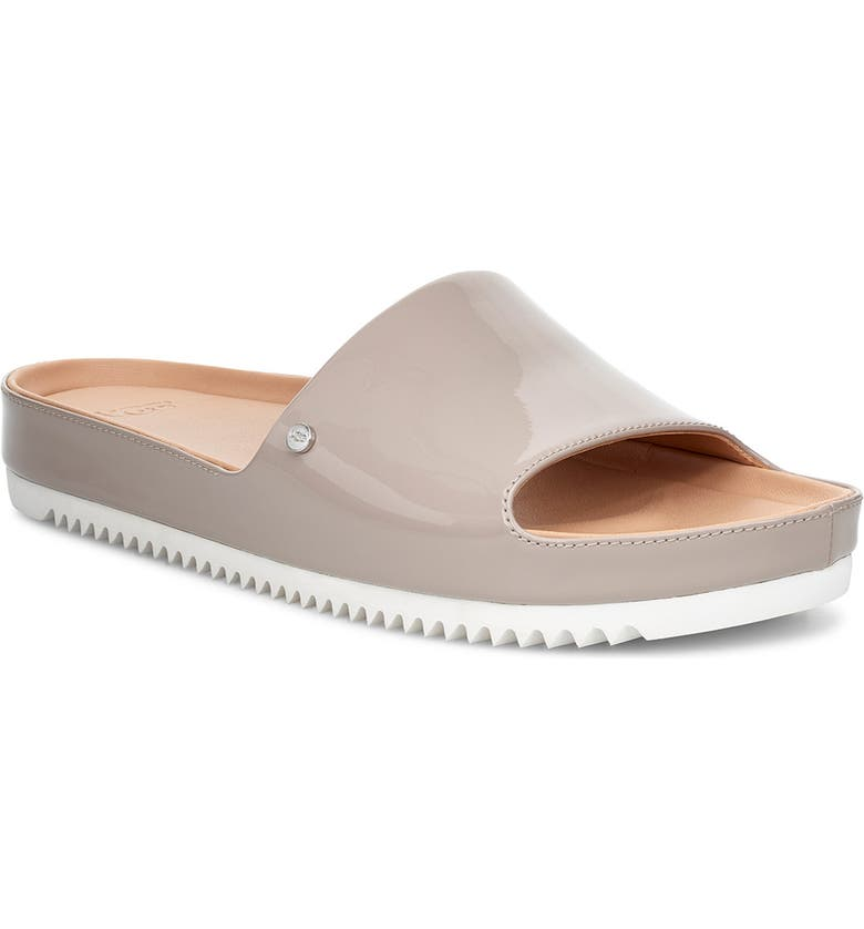 UGG<SUP>®</SUP> Jane Platform Slide Sandal, Main, color, OYSTER LEATHER