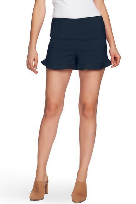 Image of 1.State Flat Front Ruffle Hem Shorts