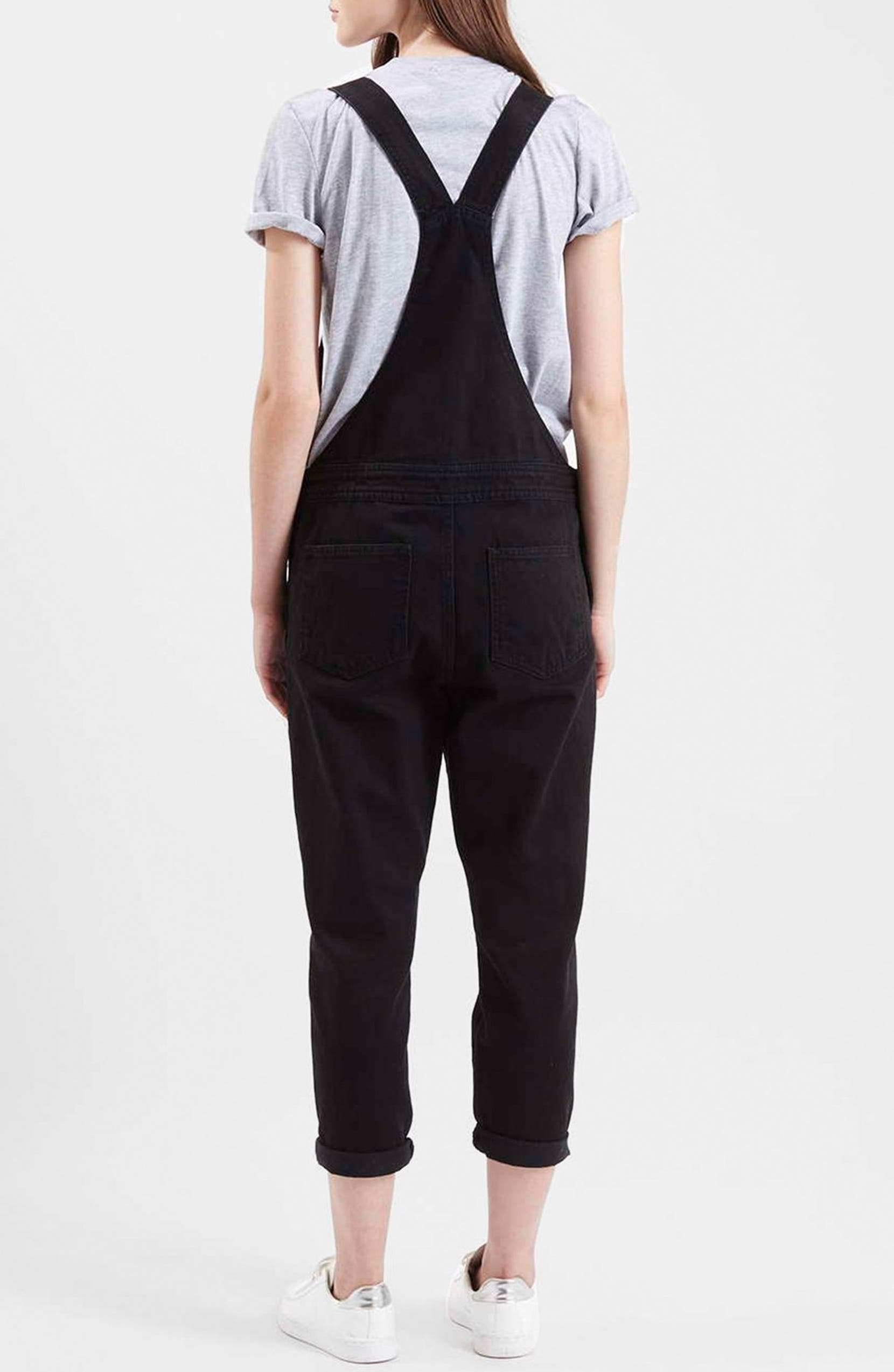 amazon hot-selling real limpid in sight Topshop Slim Denim Overalls (Petite)   Nordstrom