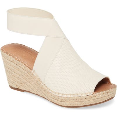 Gentle Souls Signature Colleen Espadrille Wedge- White