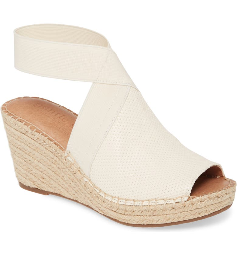 GENTLE SOULS BY KENNETH COLE Gentle Souls Signature Colleen Espadrille Wedge, Main, color, WHITE LEATHER