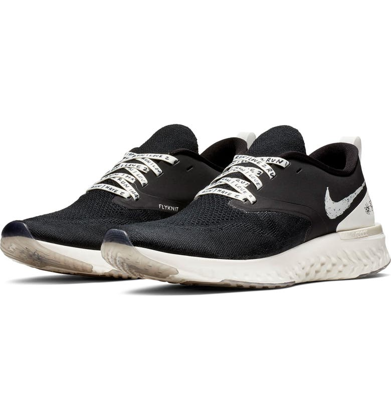 NIKE Odyssey React Flyknit 2 Nathan Bell Running Shoe, Main, color, 010