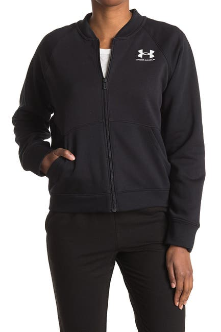 Image of Under Armour Rival Fleece Bomber Jacket