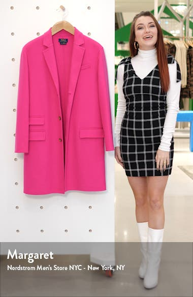 Perry Double Face Wool Blend Coat, sales video thumbnail