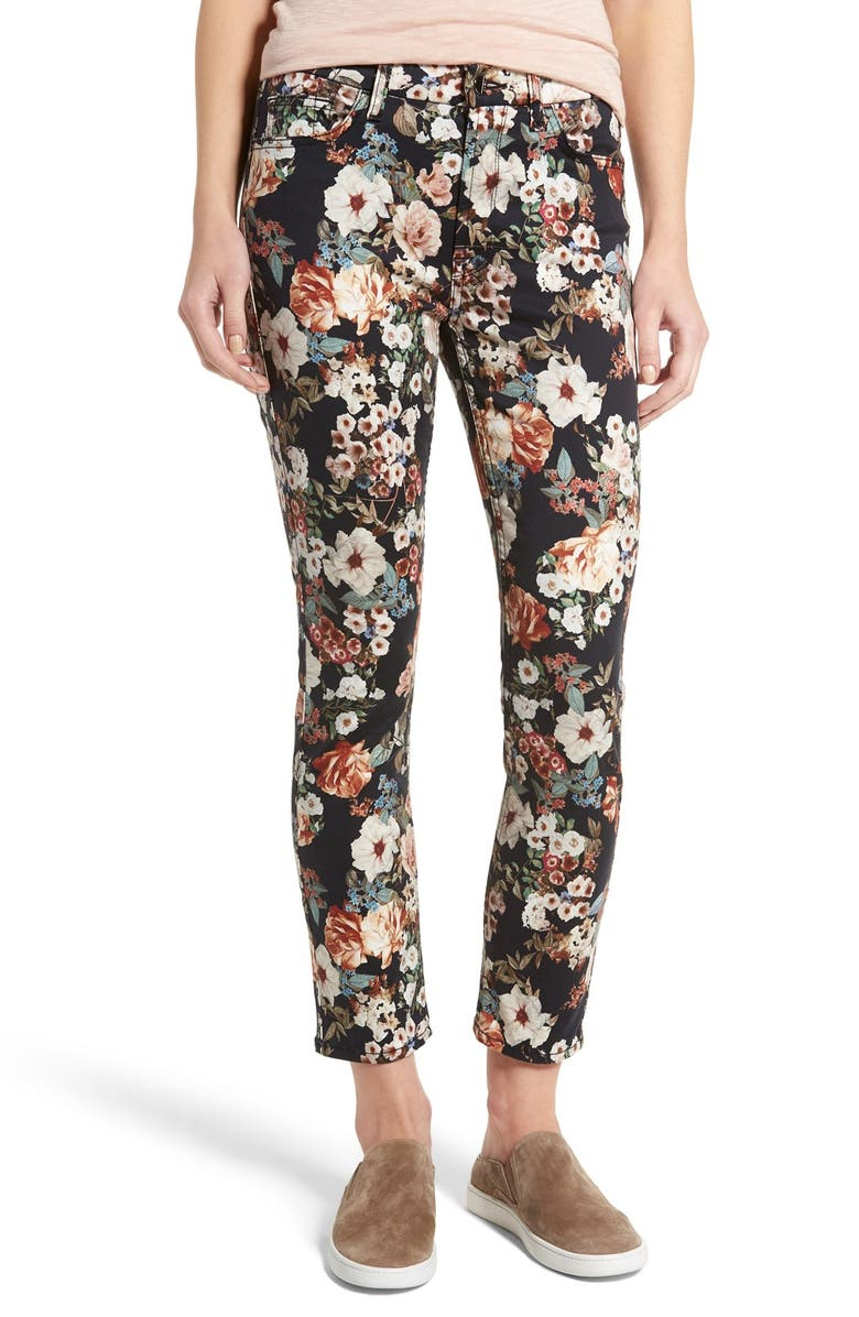 JEN7 BY 7 FOR ALL MANKIND Jen7 Tapestry Jacquard Ankle Skinny Jeans, Main, color, 006