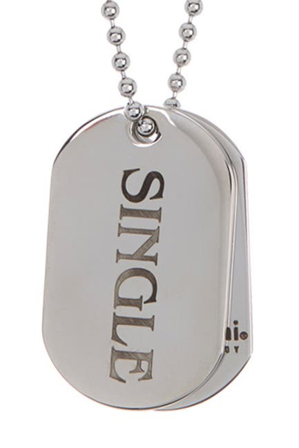Image of Bruno Banani 'Single' Dog Tag Necklace