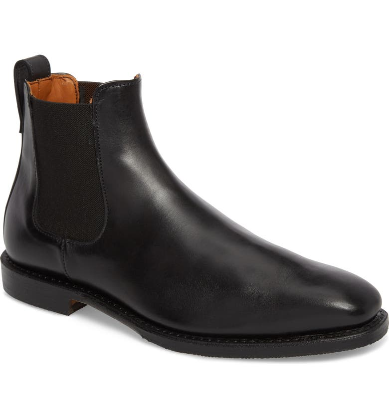 ALLEN EDMONDS Liverpool Chelsea Boot, Main, color, BLACK LEATHER