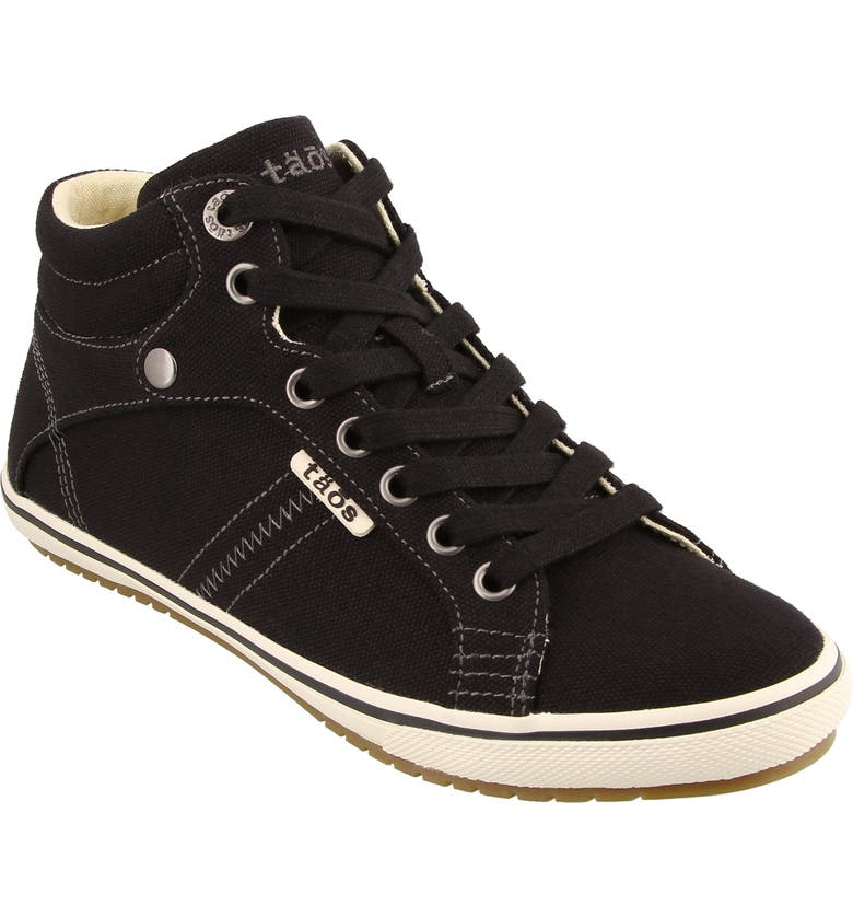 TAOS Top Star Sneaker, Main, color, BLACK CANVAS