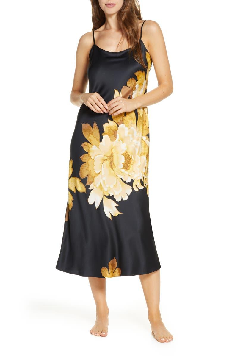 NATORI Opulent Midi Nightgown, Main, color, 001