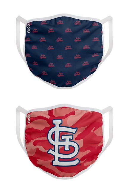 Image of FOCO MLB St. Louis Cardinals Clutch Printed Face Cover - Pack of 2