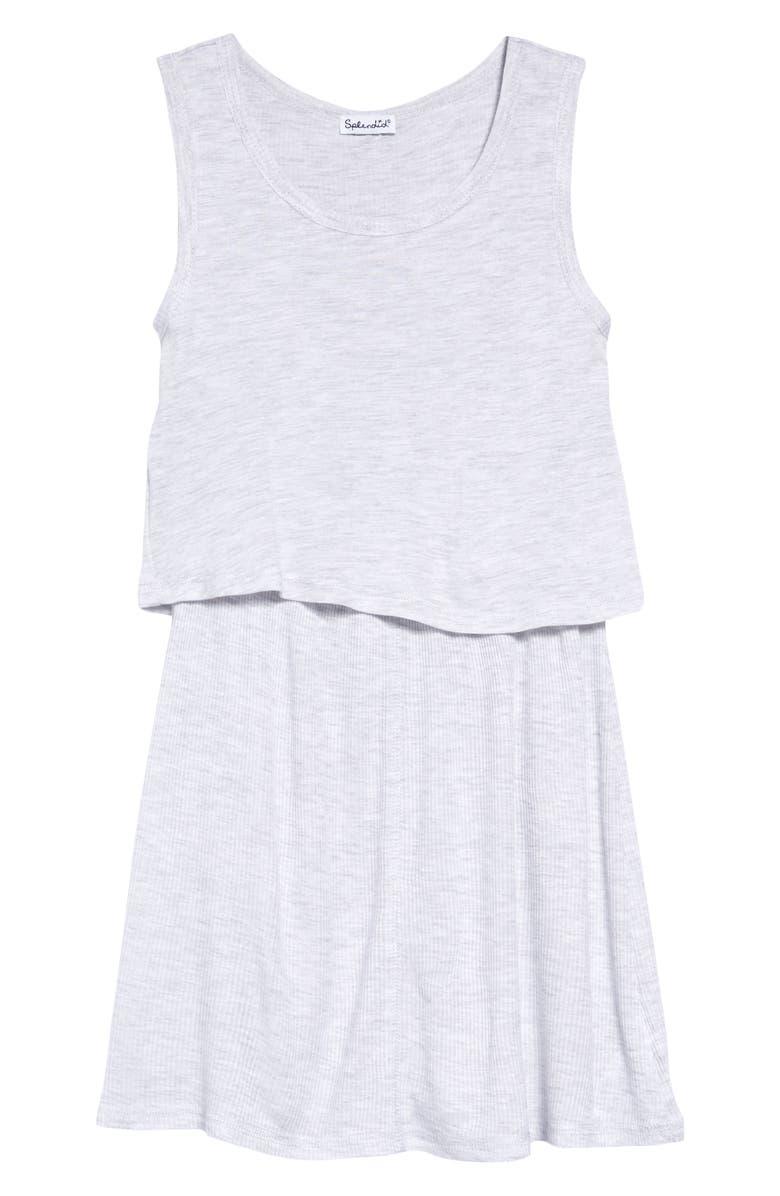 SPLENDID Popover Dress, Main, color, ICE GRAY HEATHER