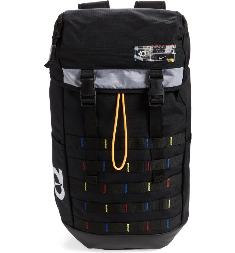 NIKE KD Veneer Backpack, Main, color, BLACK/ MULTI