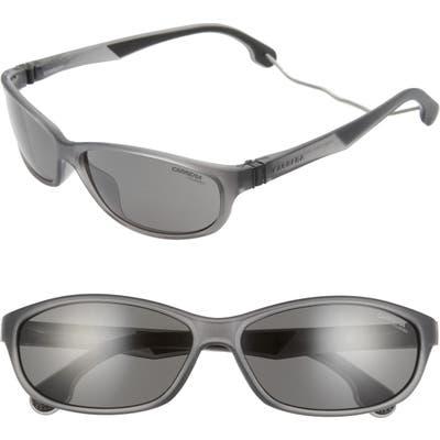 Carrera Eyewear 61Mm Polarized Wraparound Sunglasses - Matte Brown/ Bronze