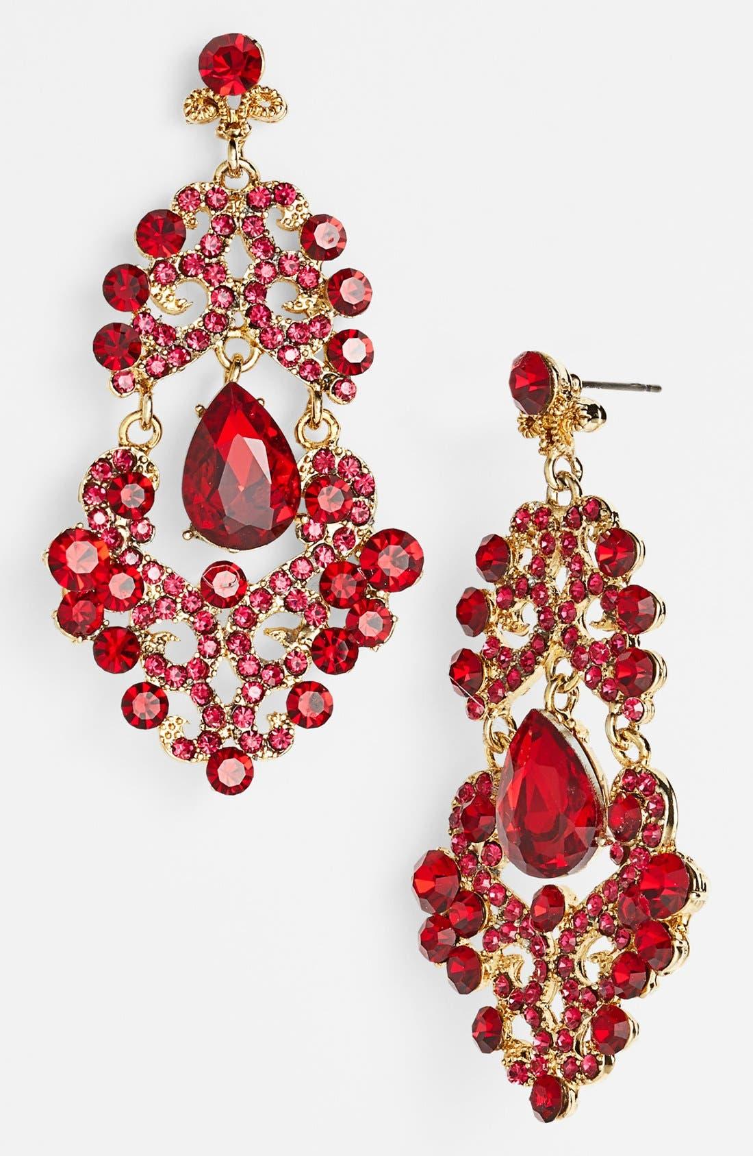 ,                             Ornate Chandelier Earrings,                             Main thumbnail 18, color,                             650
