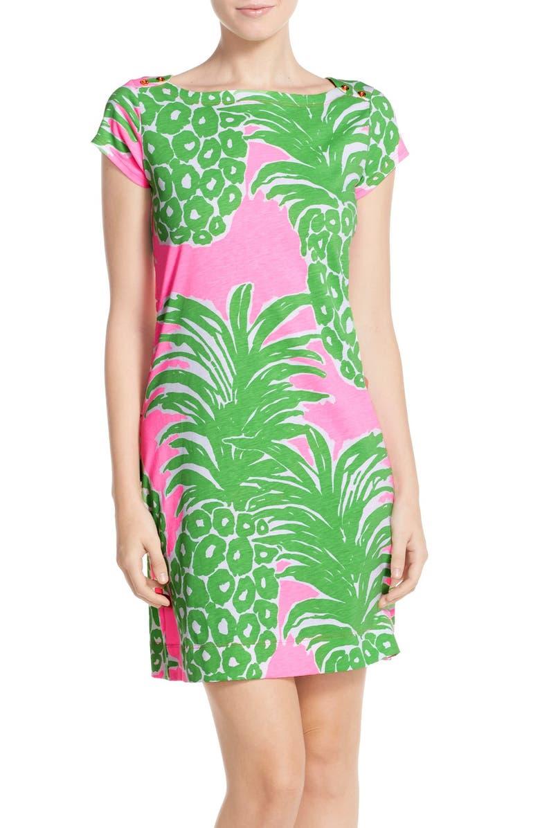 LILLY PULITZER<SUP>®</SUP> 'Loren' Pima Cotton T-Shirt Dress, Main, color, 652