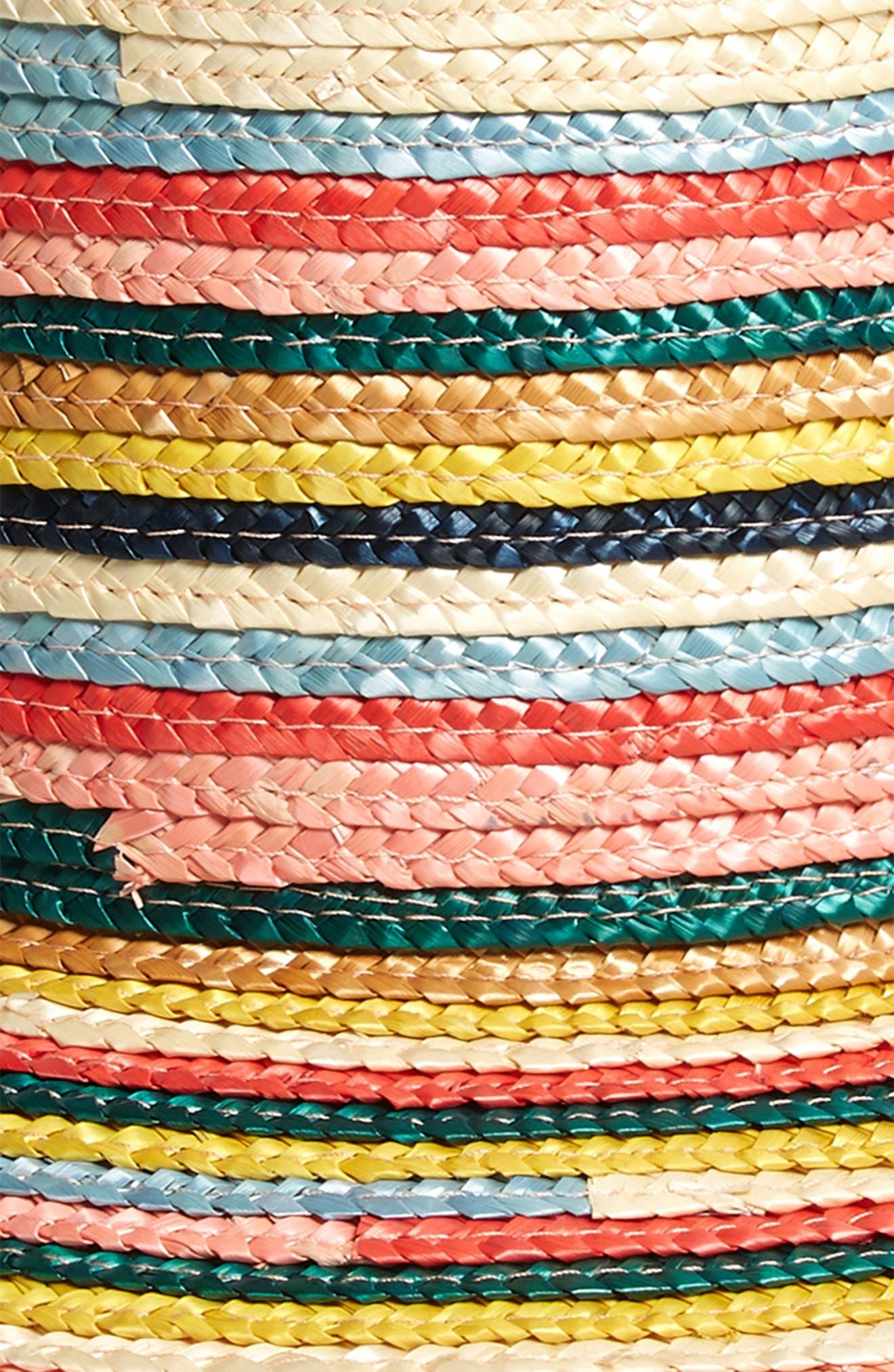 ,                             Stevie Rainbow Straw Hat,                             Alternate thumbnail 2, color,                             MULTI