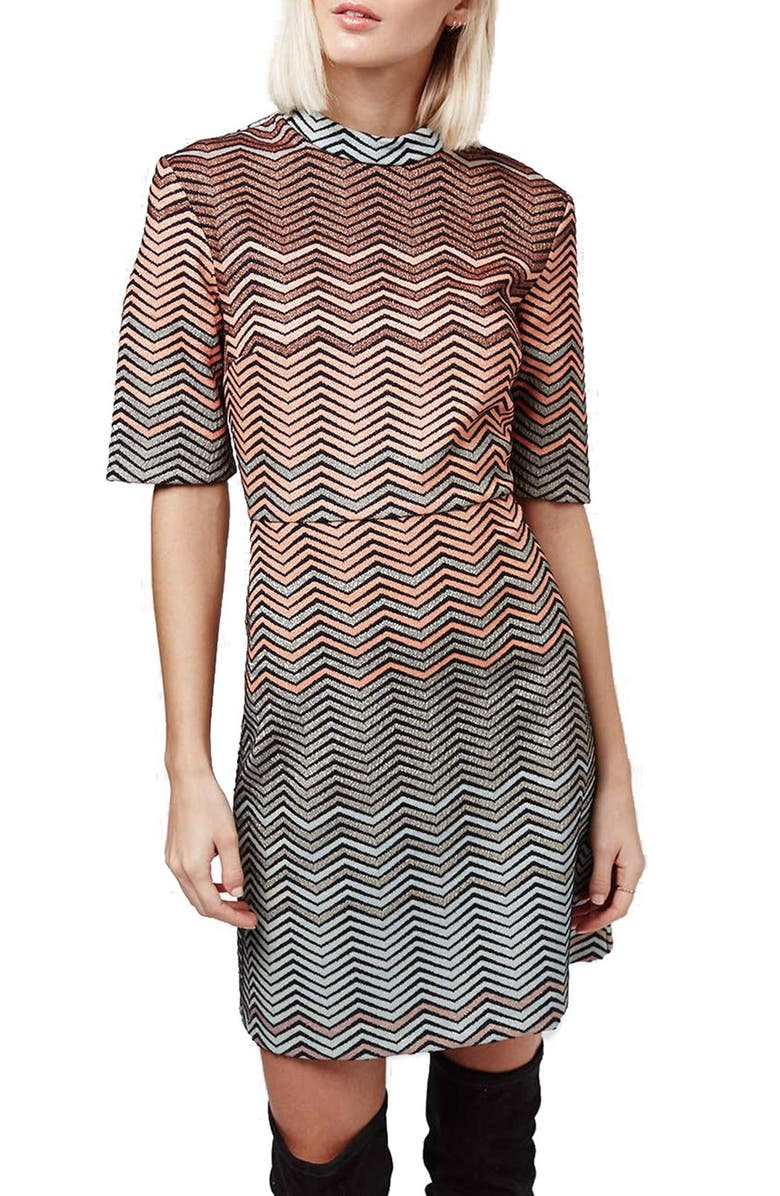 a636489ba4 Topshop Metallic Chevron Dress | Nordstrom
