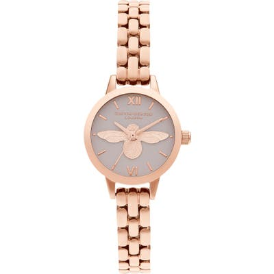 Olivia Burton Mini Dials 3D Bee Bracelet Watch, 2m