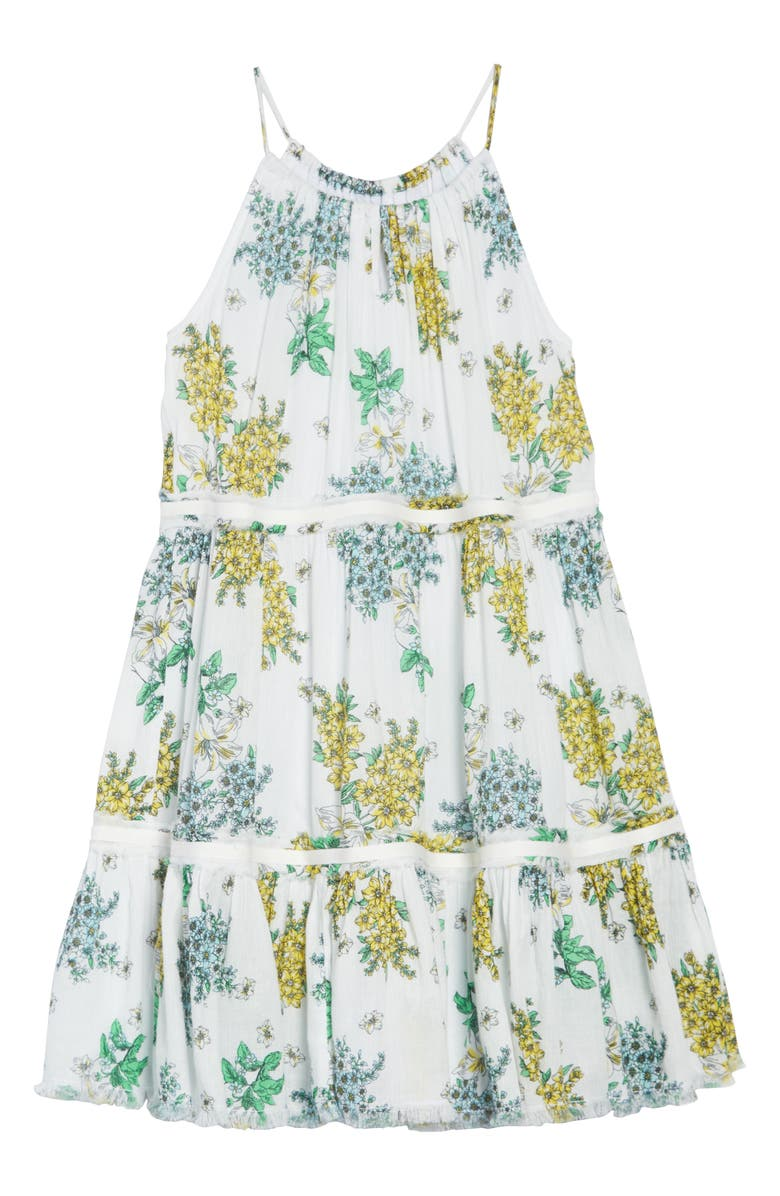 TUCKER + TATE Gauzy Tiered Dress, Main, color, 901