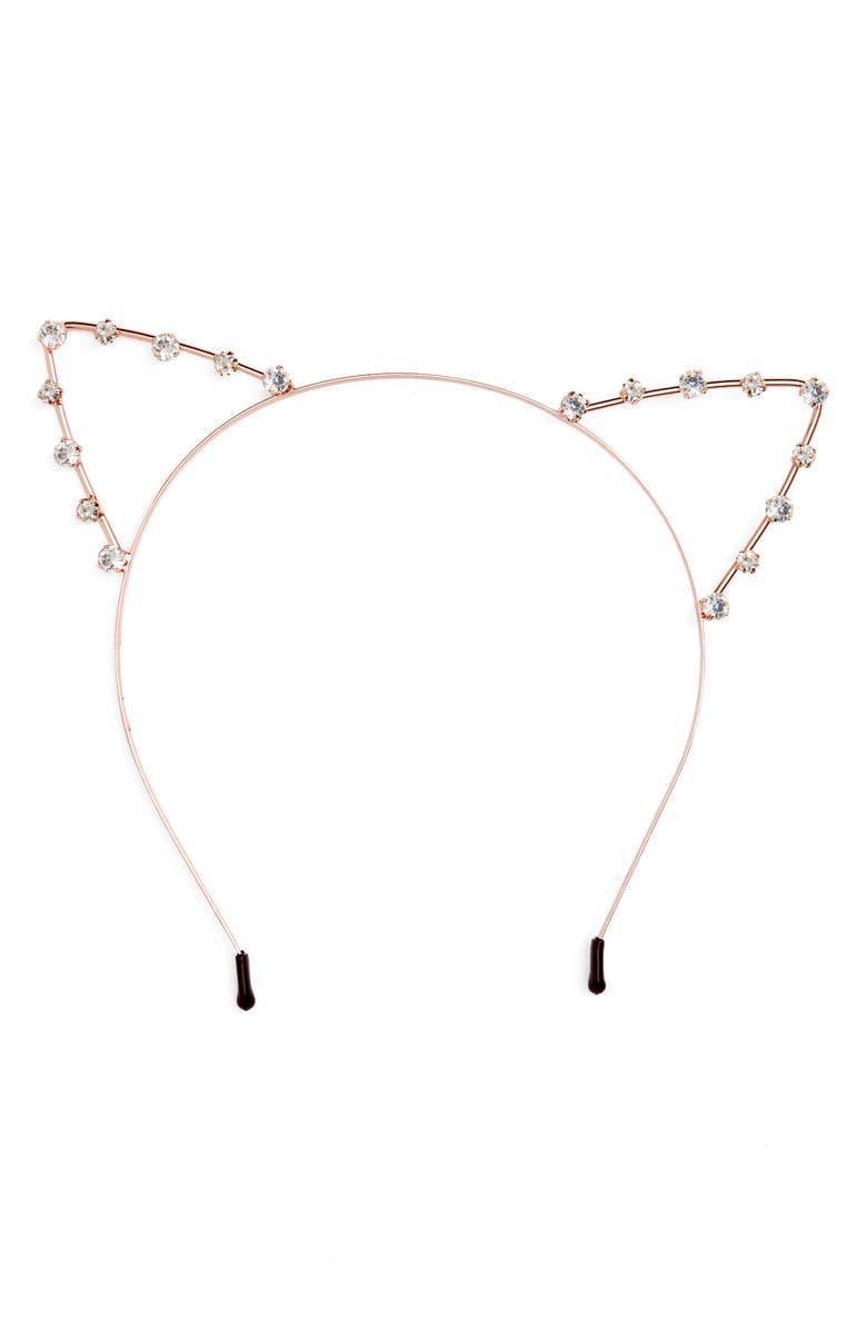 8477f4454 Crystal Cat Ears Headband, Main, color, 711