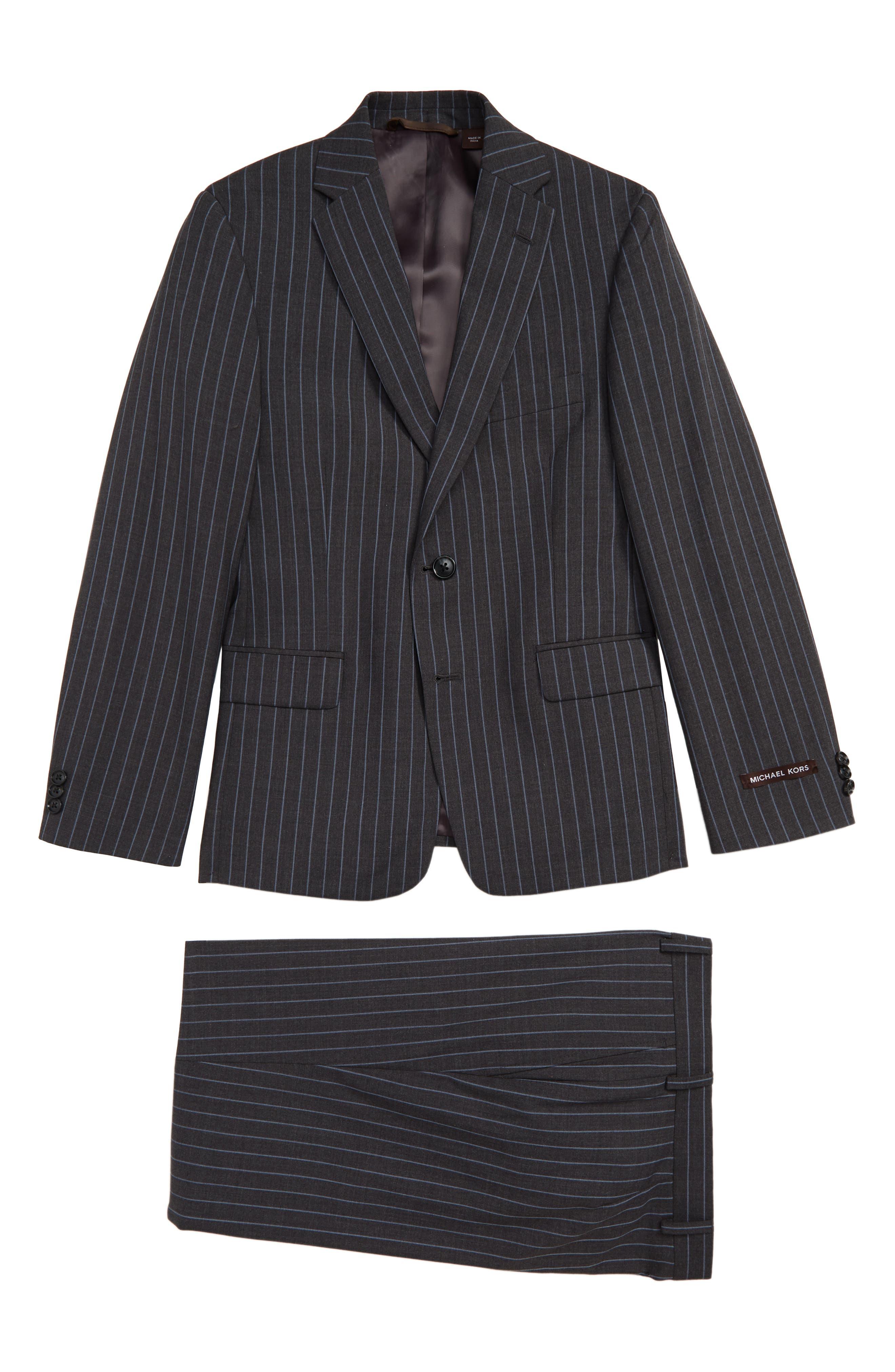Image of Michael Kors Stripe Wool Blend Suit
