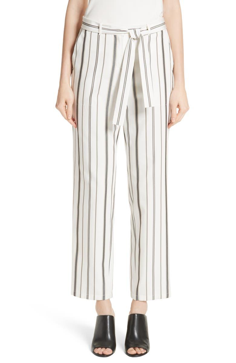 LAFAYETTE 148 NEW YORK Fulton Gallant Stripe Pants, Main, color, 129