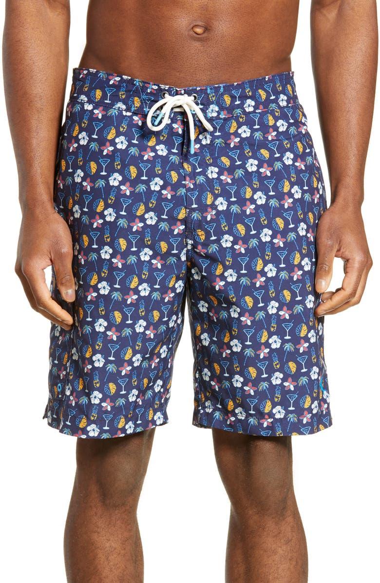 TOMMY BAHAMA Baja Martini Tasso Board Shorts, Main, color, 400