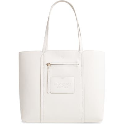 Kate Spade New York Large Shadow Leather Tote - White