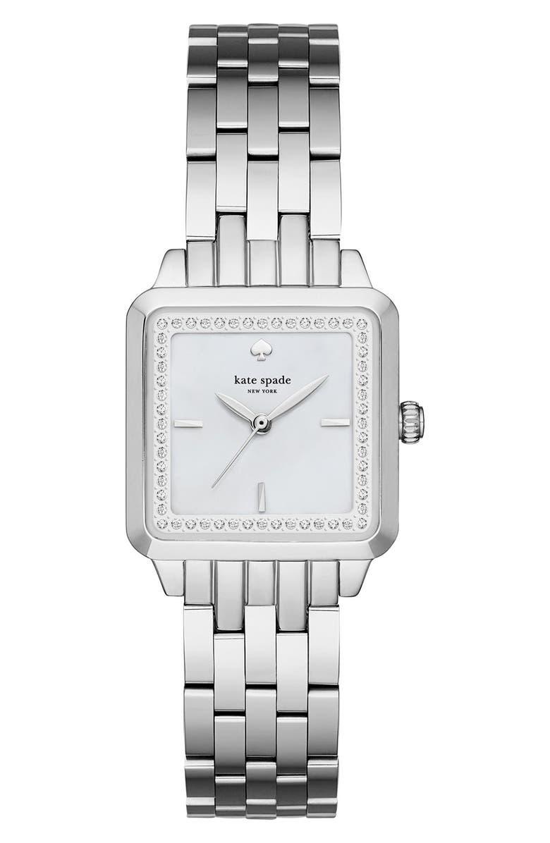 KATE SPADE NEW YORK washington square bracelet watch, 25mm, Main, color, 040