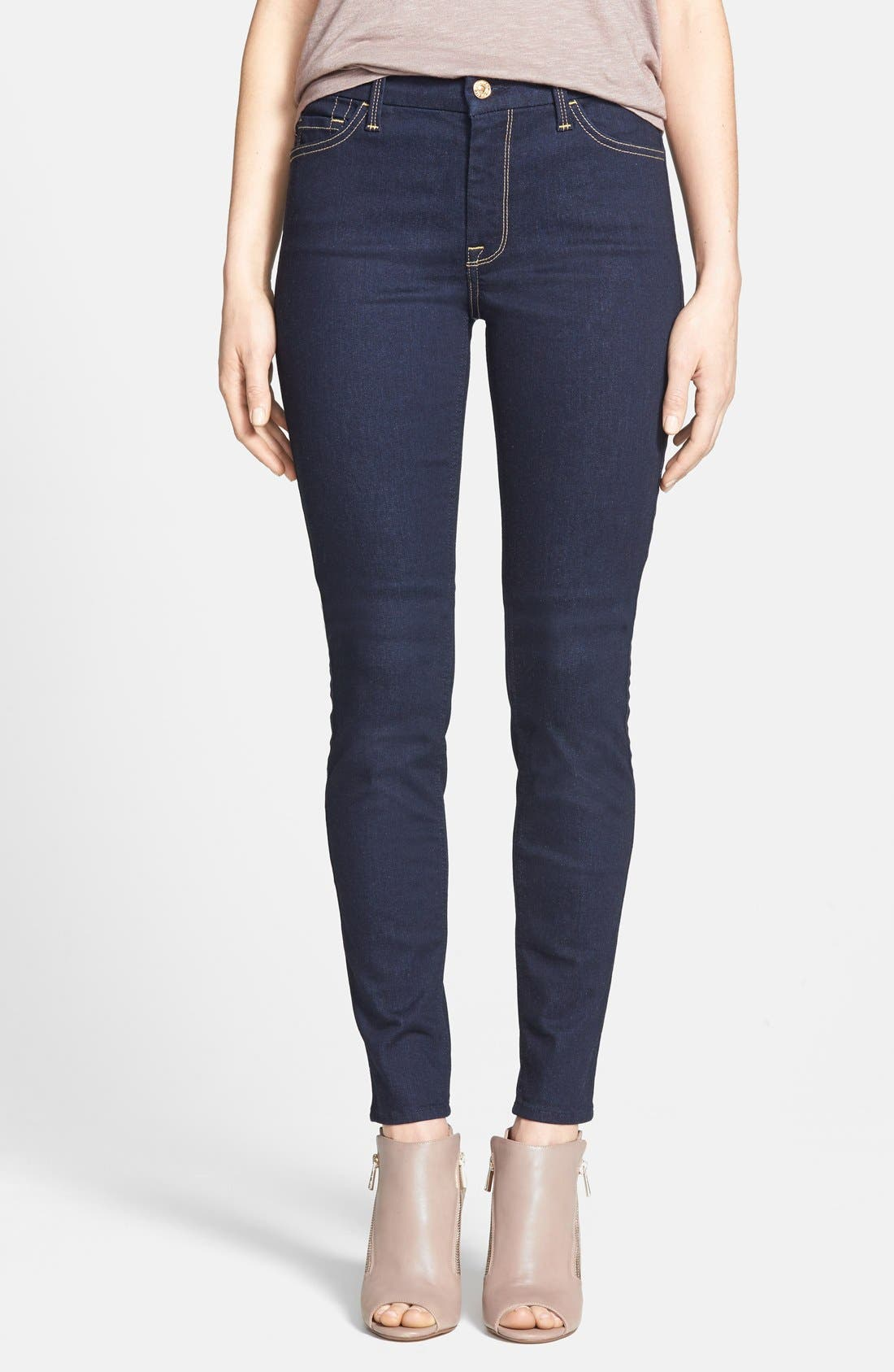 ,                             High Rise Skinny Jeans,                             Main thumbnail 1, color,                             400