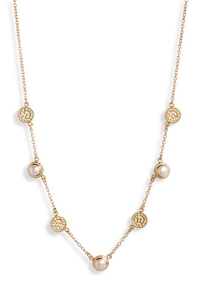 Anna Beck FRESHWATER PEARL STATION COLLAR NECKLACE (NORDSTROM EXCLUSIVE)