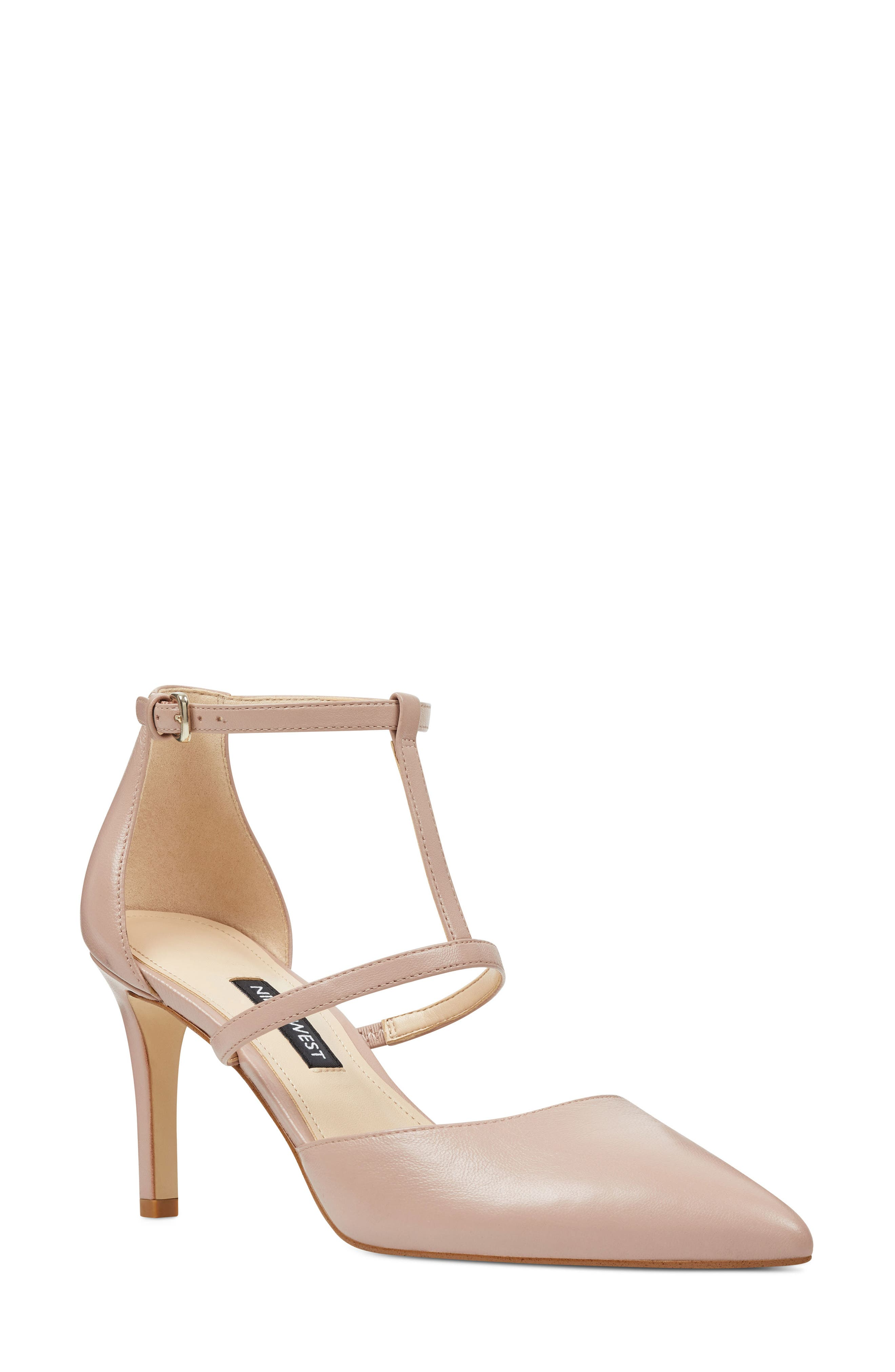 Nine West Cintia Ankle Strap Pump- Pink