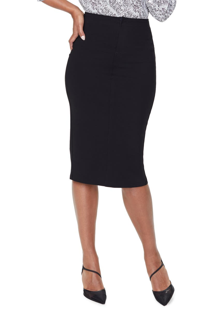 NYDJ Pencil Skirt, Main, color, BLACK