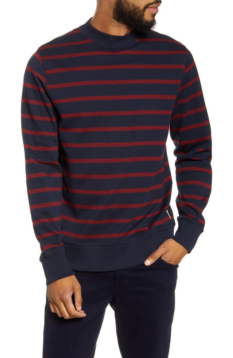 OLIVER SPENCER Robin Slim Fit Organic Cotton Sweater, Main, color, MURPHY NAVY