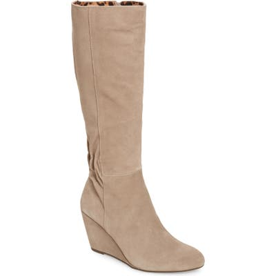 Seychelles Star Of The Show Wedge Knee High Boot, Beige