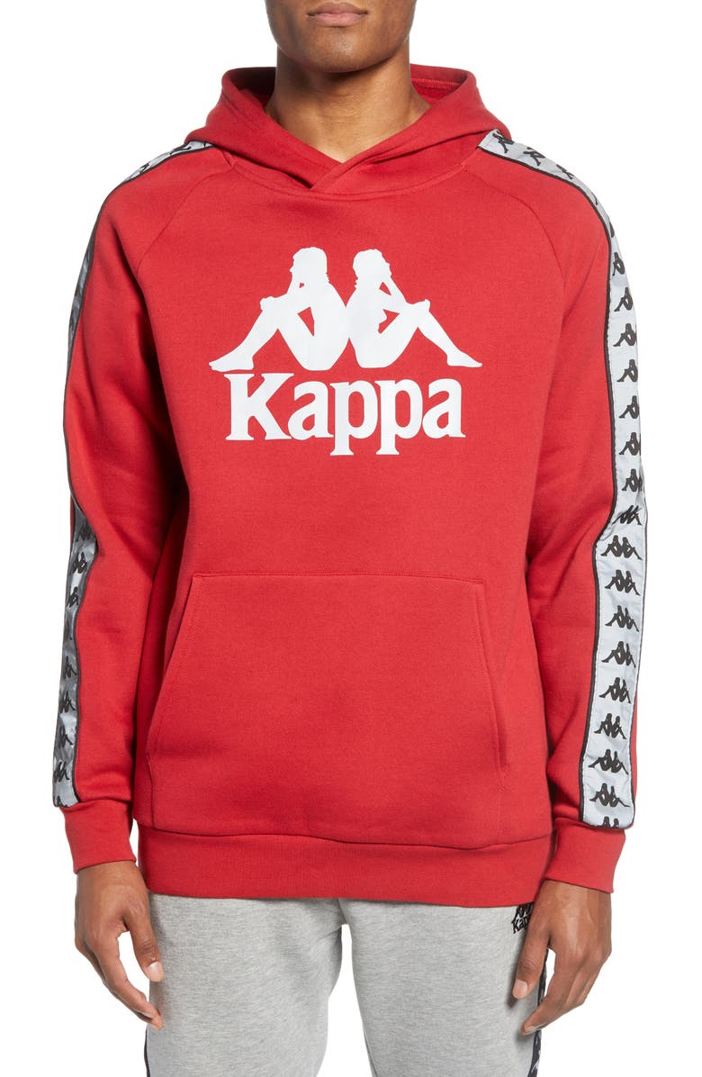 KAPPA Active 222 Banda Deniss Graphic Hoodie, Main, color, CHILLY PEPPER-GREY REFLECTIVE
