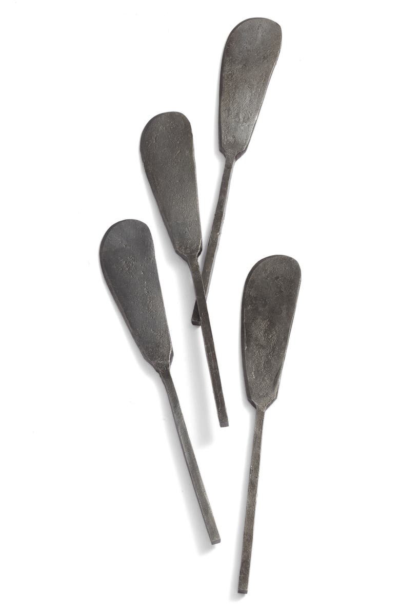 TREASURE & BOND Set of 4 Forged Iron Cheese Spreaders, Main, color, 001