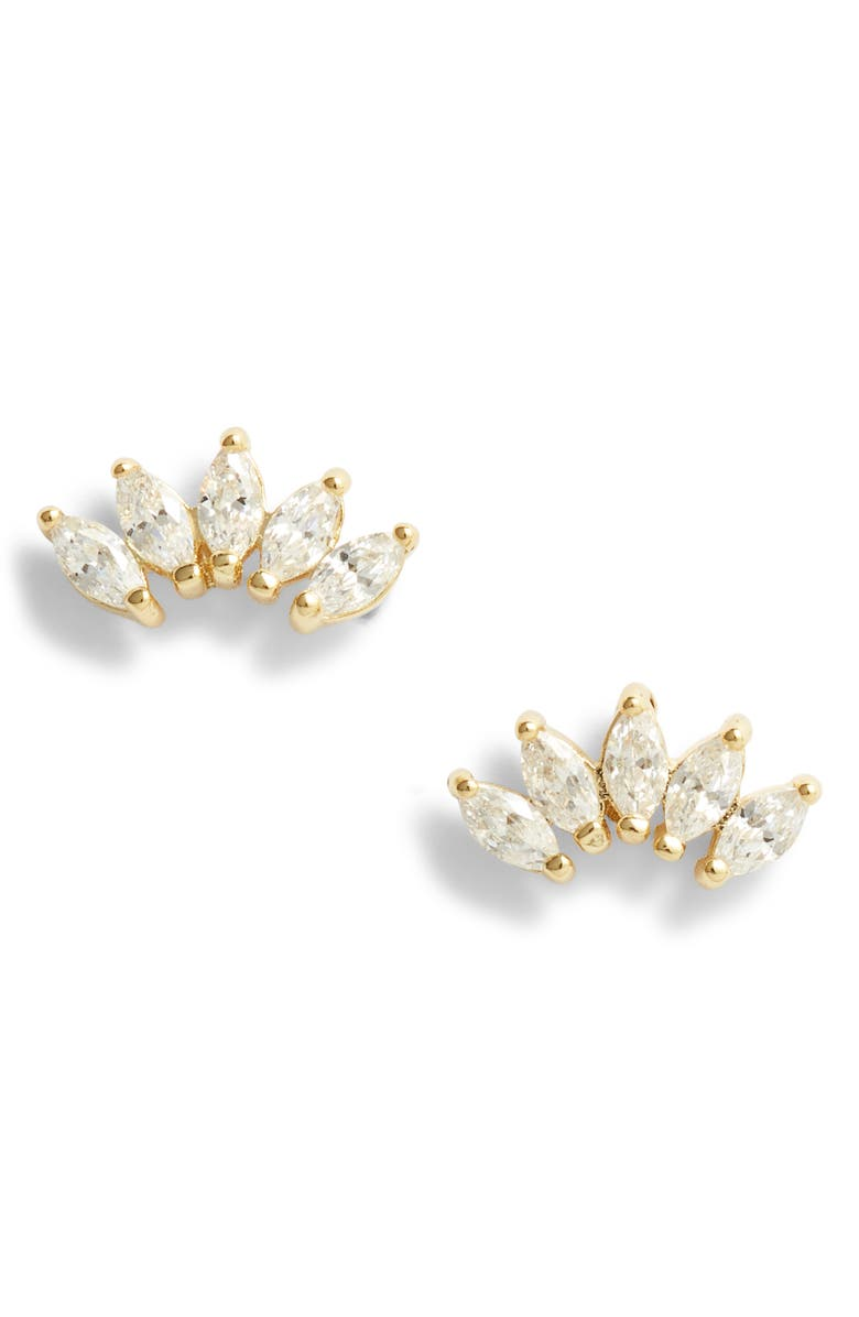ADINA'S JEWELS Adina's Jewels Mini Marquis Stud Earrings, Main, color, 710