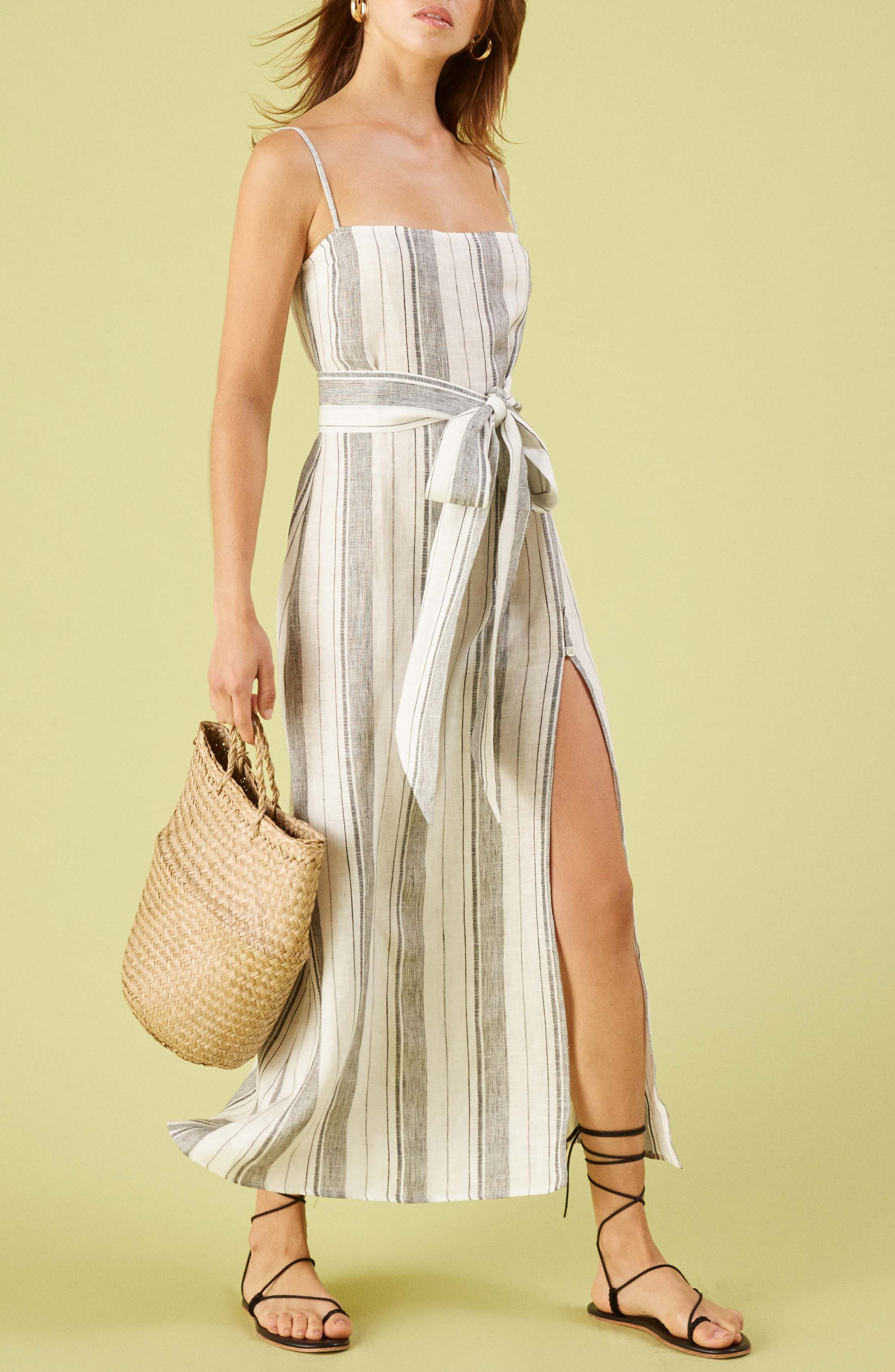 ,                             Pineapple Maxi Dress,                             Alternate thumbnail 4, color,                             LOUSIANA STRIPE