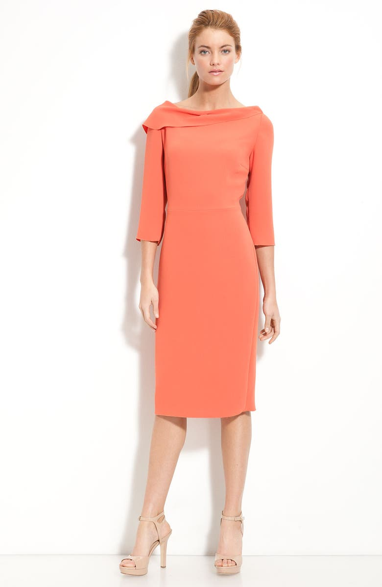 ZZDNU RACHEL RACHEL ROY Rachel Roy Drape Neck Sheath Dress, Main, color, 950