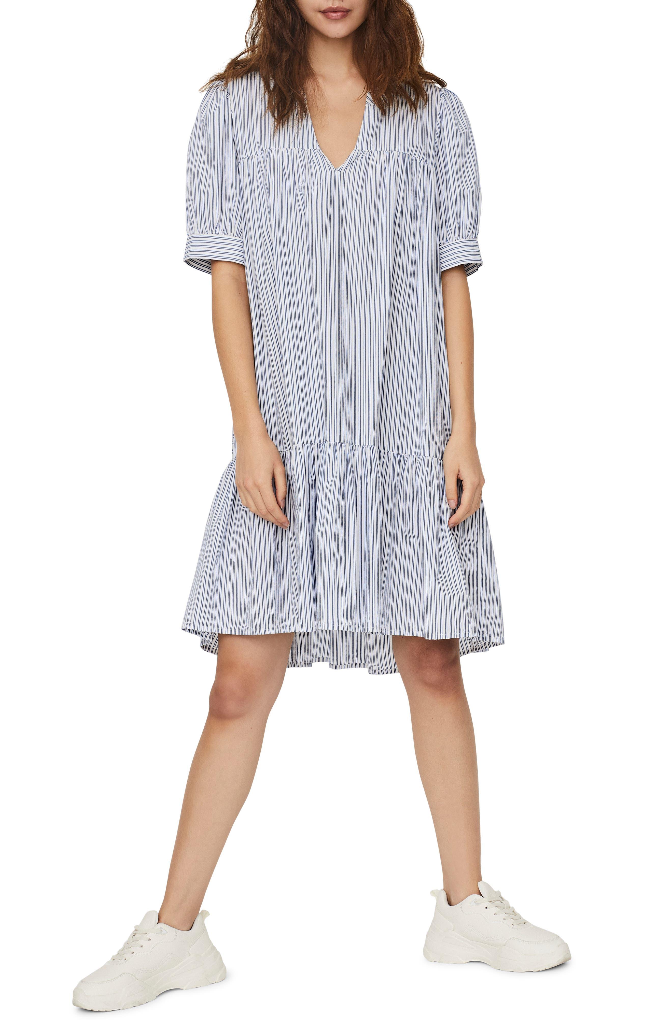 Palmer Puff Sleeve Ruffle Dress