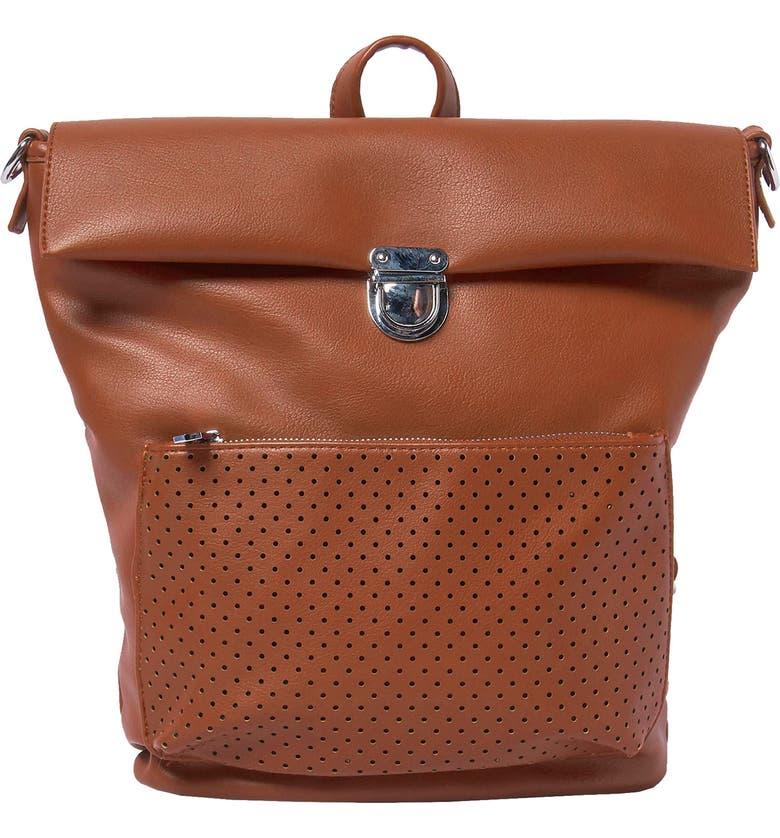 URBAN ORIGINALS Solo Origin Vegan Leather Convertible Backpack, Main, color, TAN