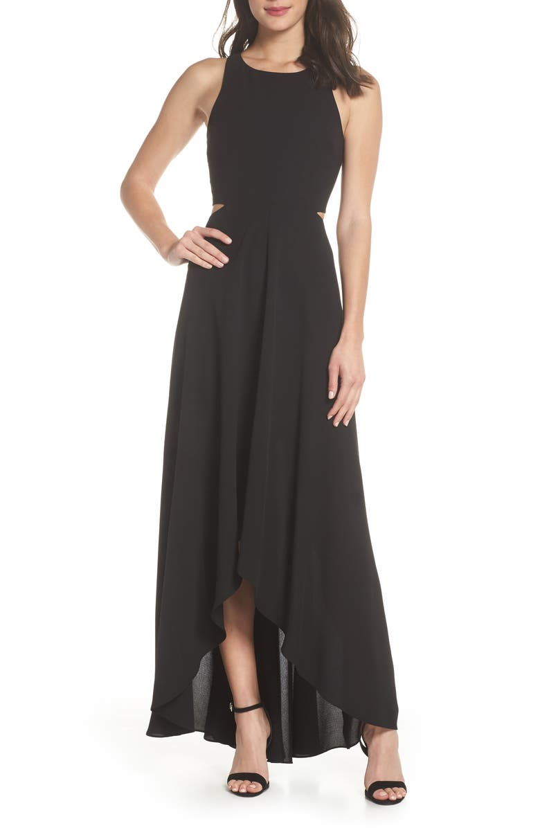 ALI & JAY Cutout Maxi Dress, Main, color, BLACK