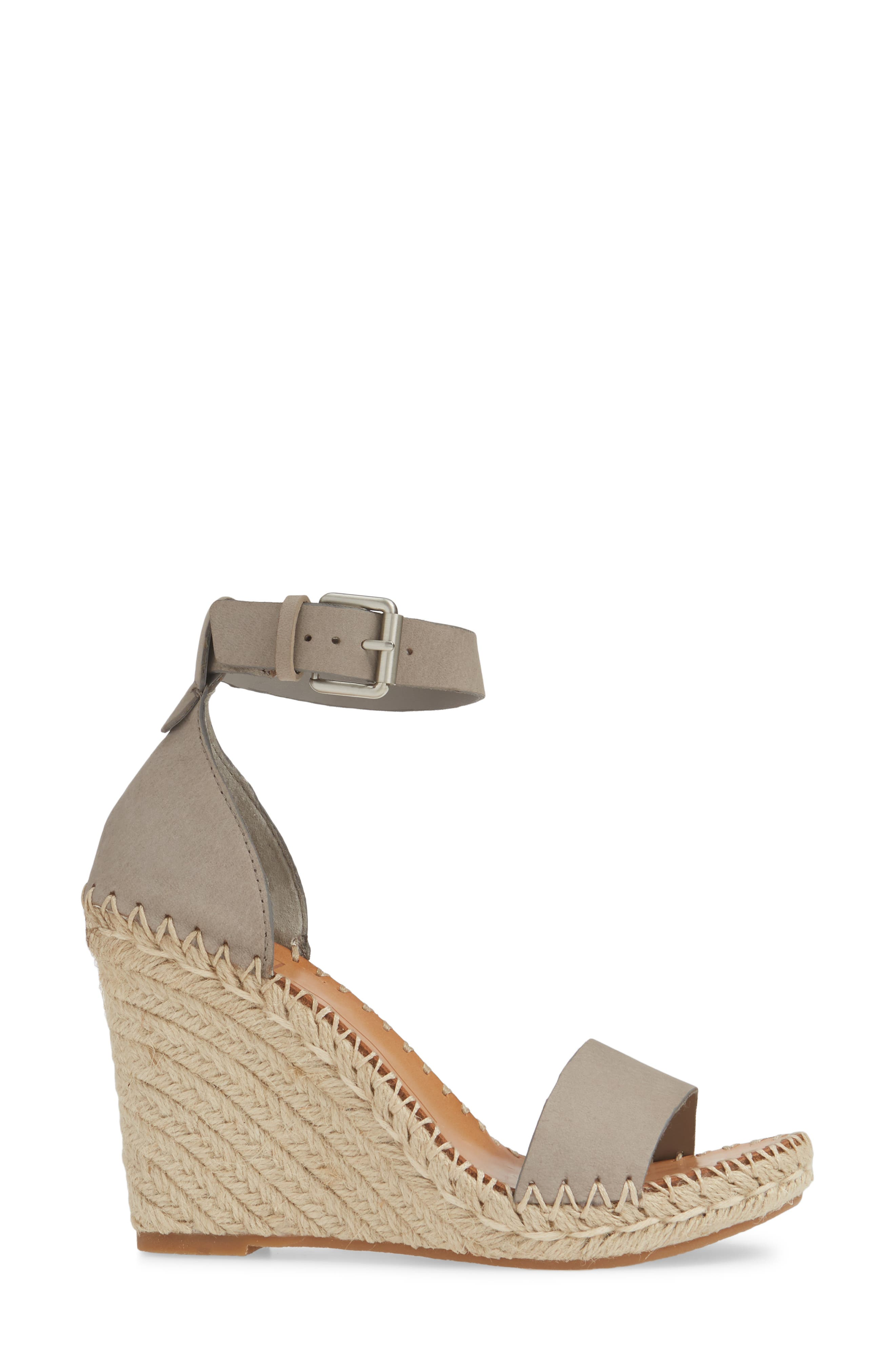 ,                             Noor Espadrille Wedge Sandal,                             Alternate thumbnail 3, color,                             020
