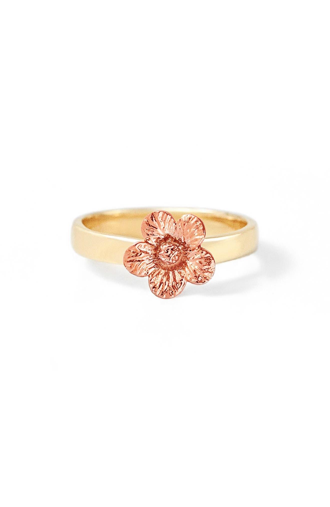 Flora Petunia 14K Gold Ring