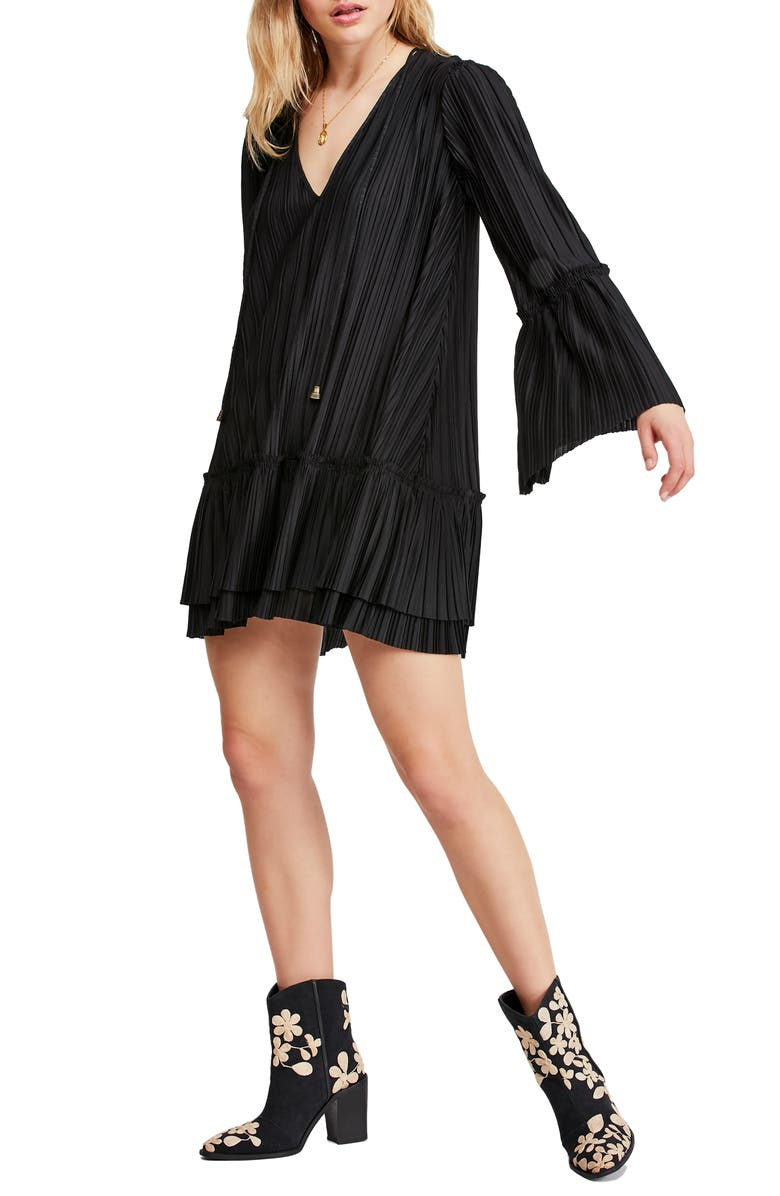 FREE PEOPLE Can't Help It Minidress, Main, color, BLACK