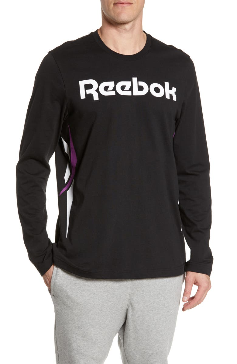 REEBOK Classic Vector Logo Long Sleeve T-Shirt, Main, color, 005