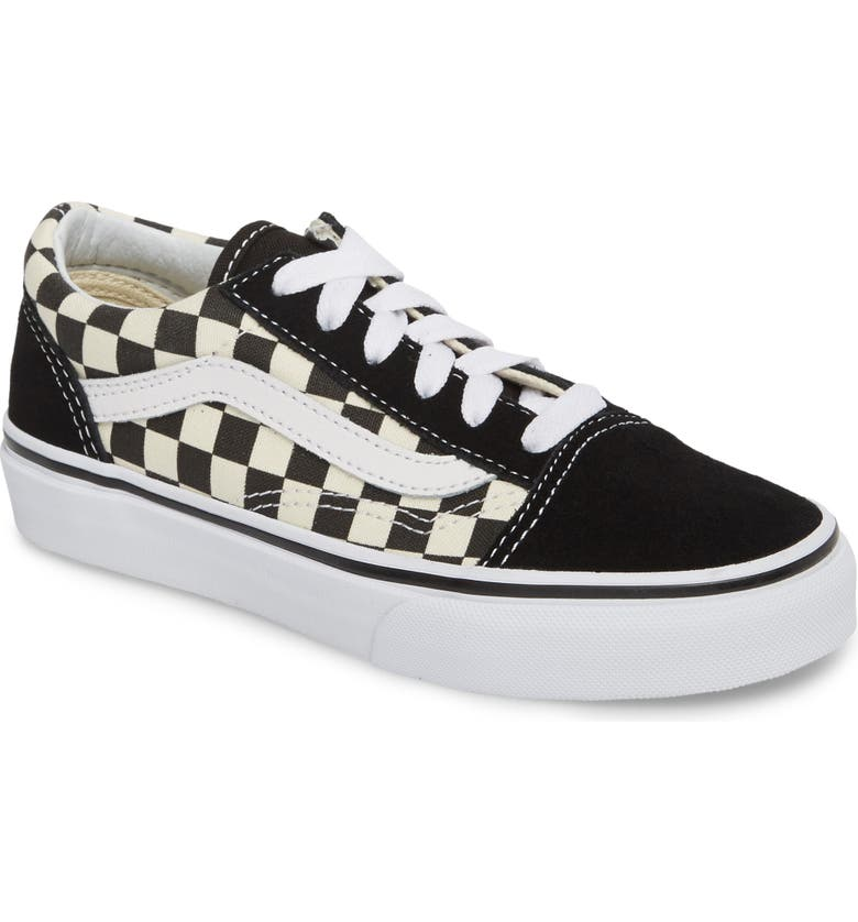 VANS Old Skool Sneaker, Main, color, BLACK/ WHITE CHECK