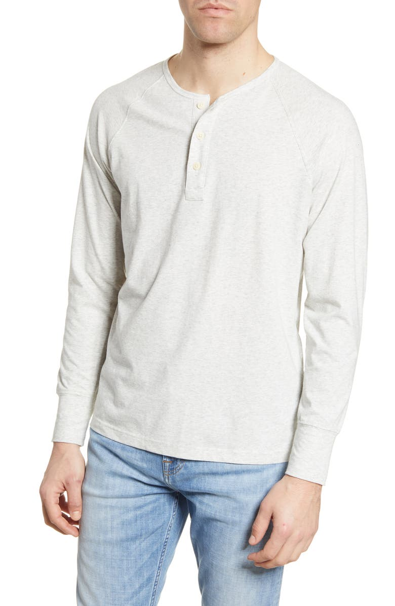 THE NORMAL BRAND Active Puremeso Long Sleeve Henley, Main, color, 030